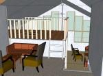 Sitting room - loft - looking S