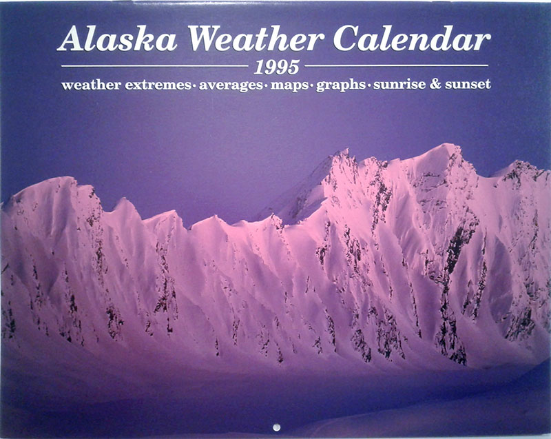 1995 Alaska Weather Calendar