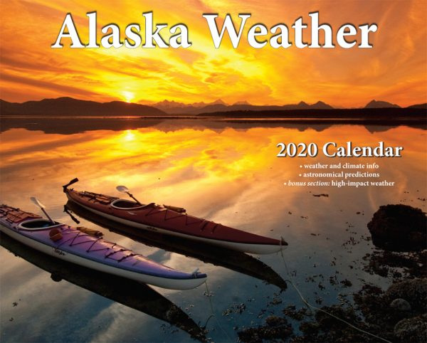 2020 Alaska Weather Calendar front cover view